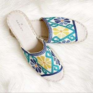 Caslon Cammy Embroidered Platform Slide Sandal